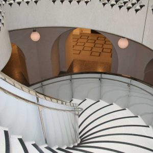 Curved Glass Balustrade, Tate Britain, Rotunda Staircase