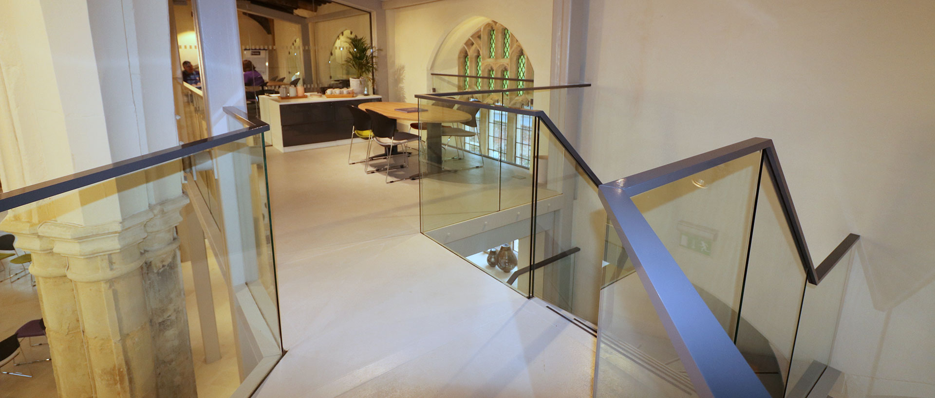 Ion Glass Installs Glazed Balustrades to St. Mary's on the Quay