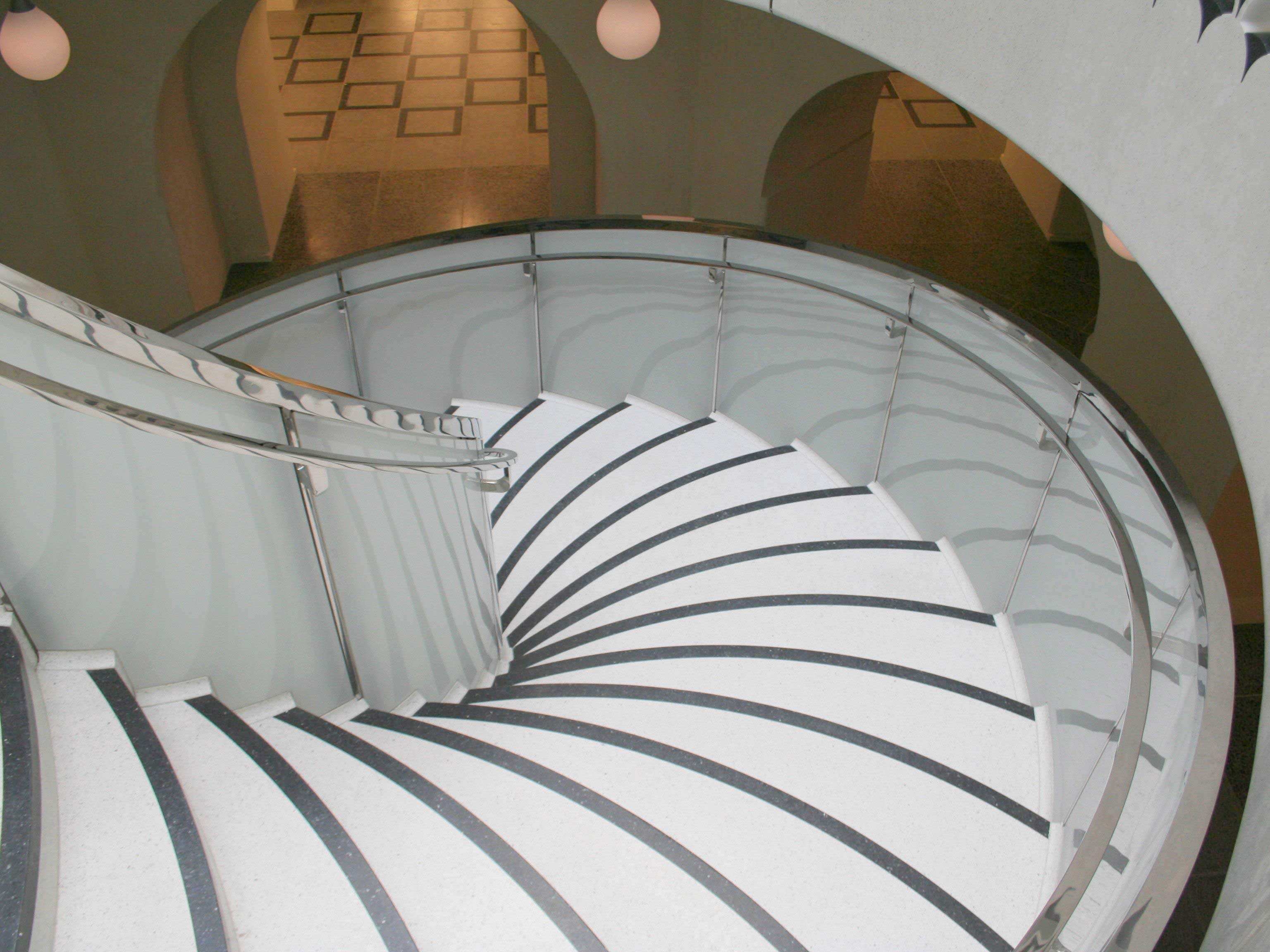 White Glass Balustrades installed at The Tate Britain, London