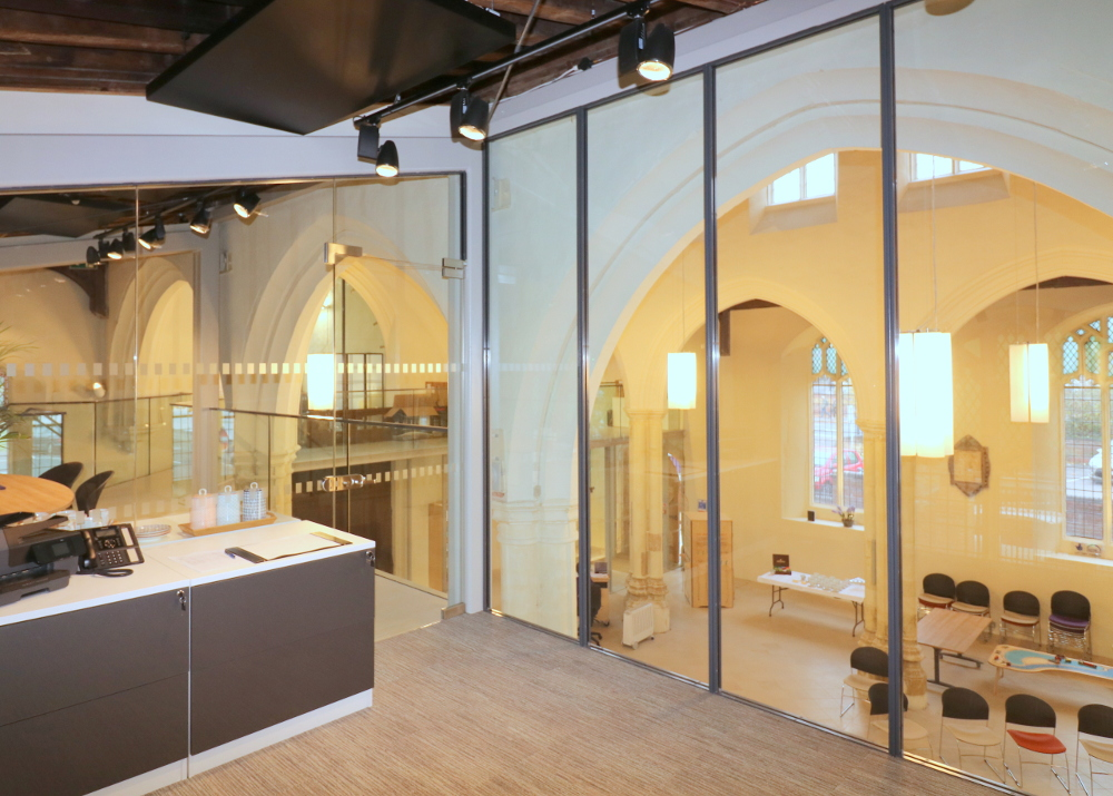 Acoustic Glass Meeting Room, St. Mary on the Quay