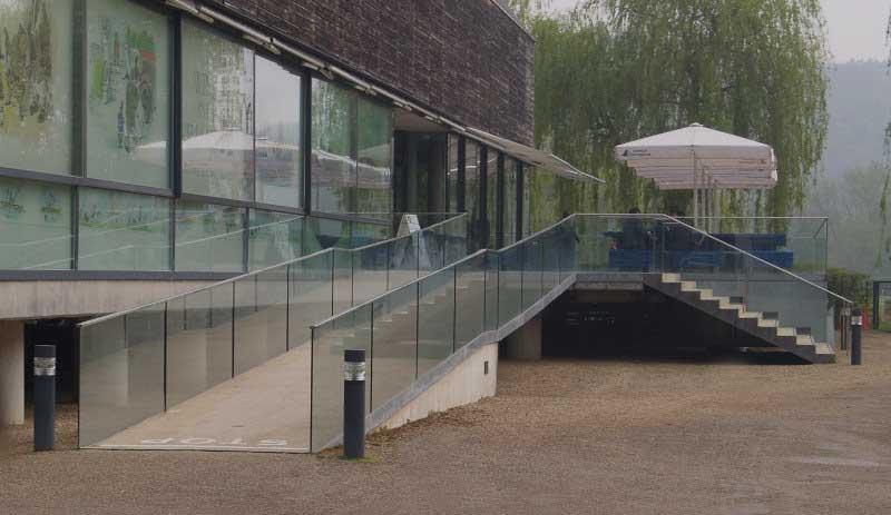 External Glass Balustrade, Resin Set Balustrading System