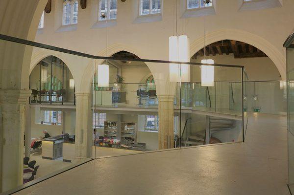 Frameless Glass Balustrades on Mezzanine Floor, St. Mary on the Quay