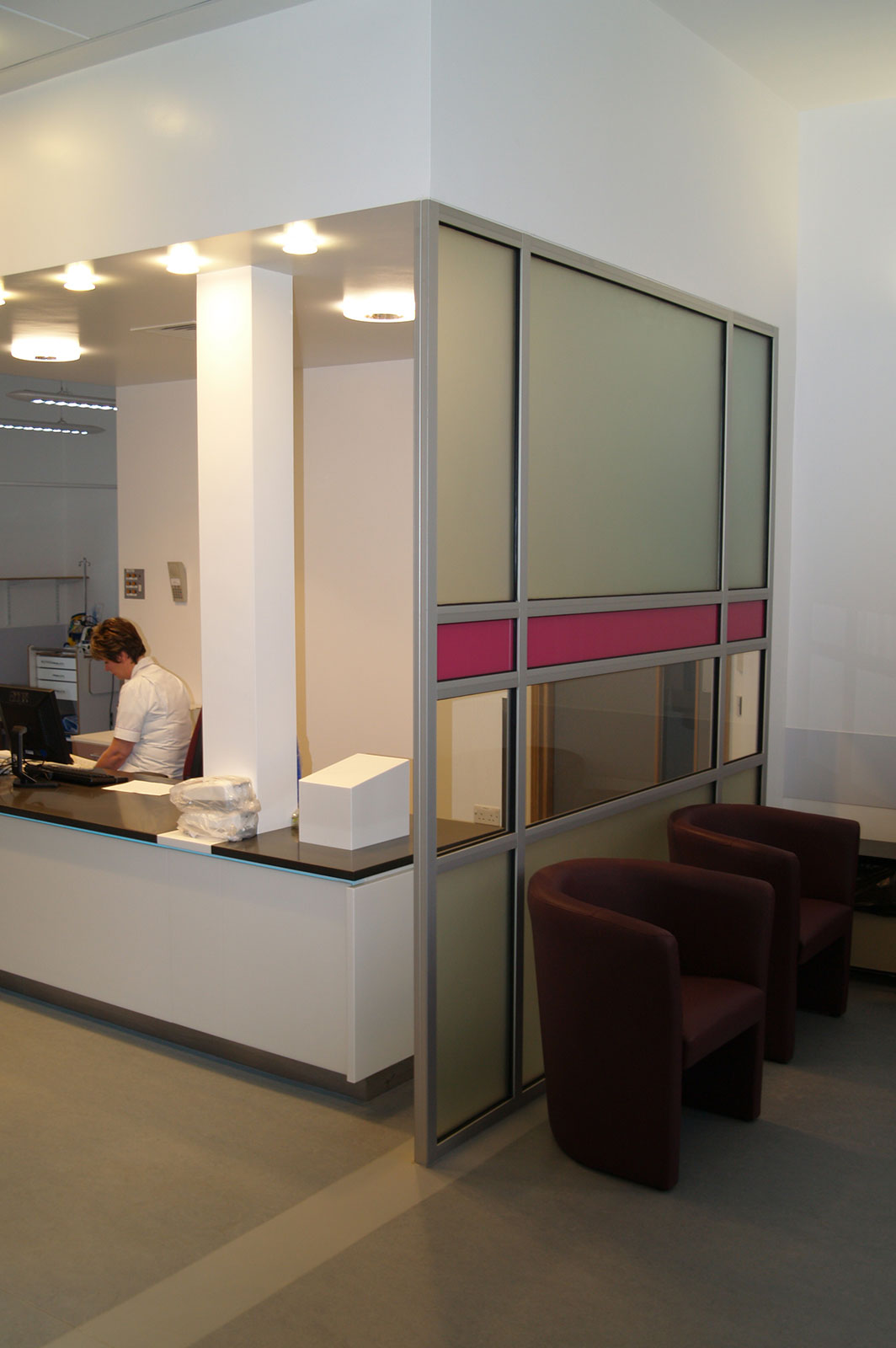 Bespoke Opaque Glass Partitioning, Bedford MRI Hospital