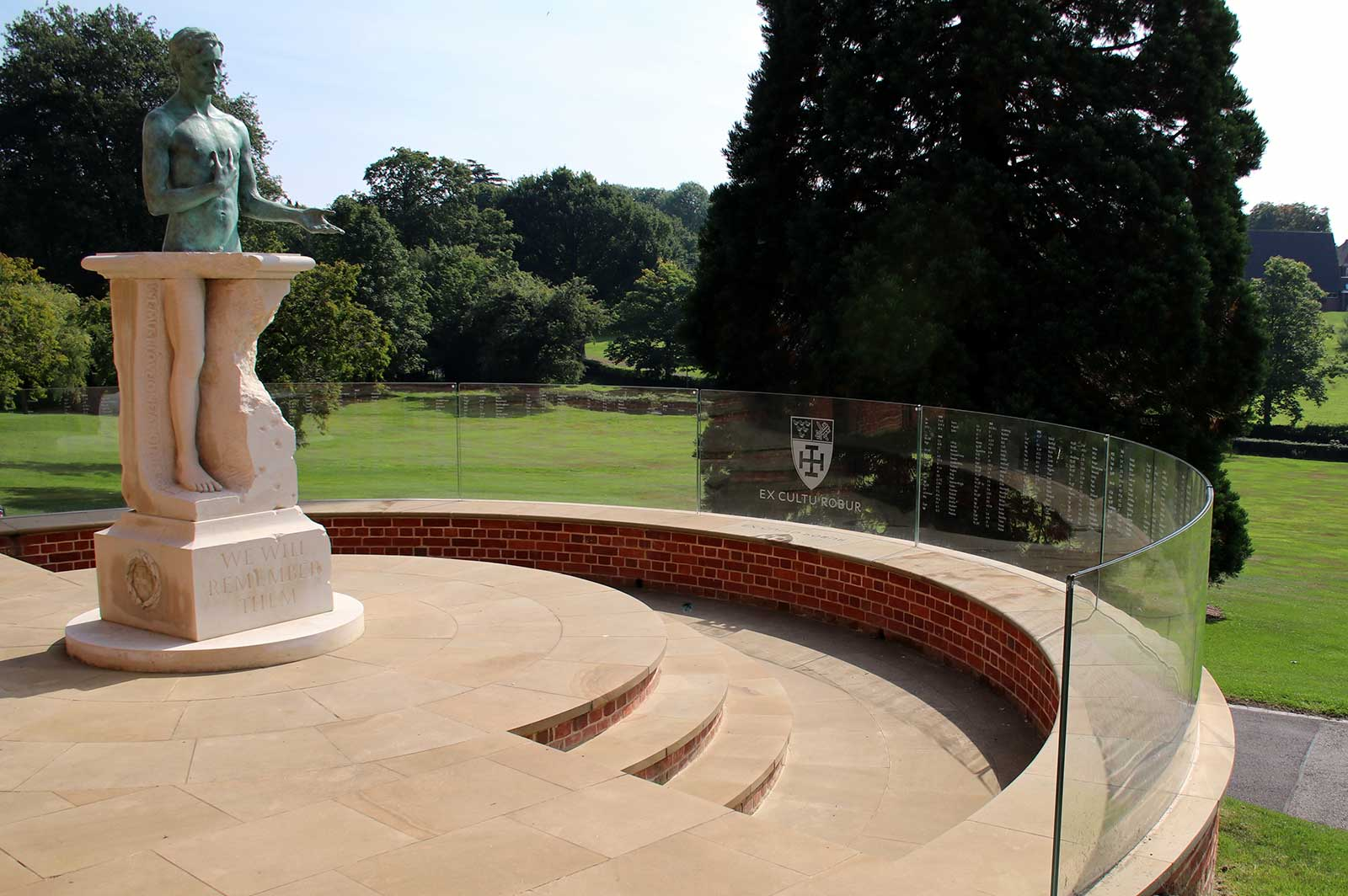 External Curved Glass Balustrades with glass manifestation