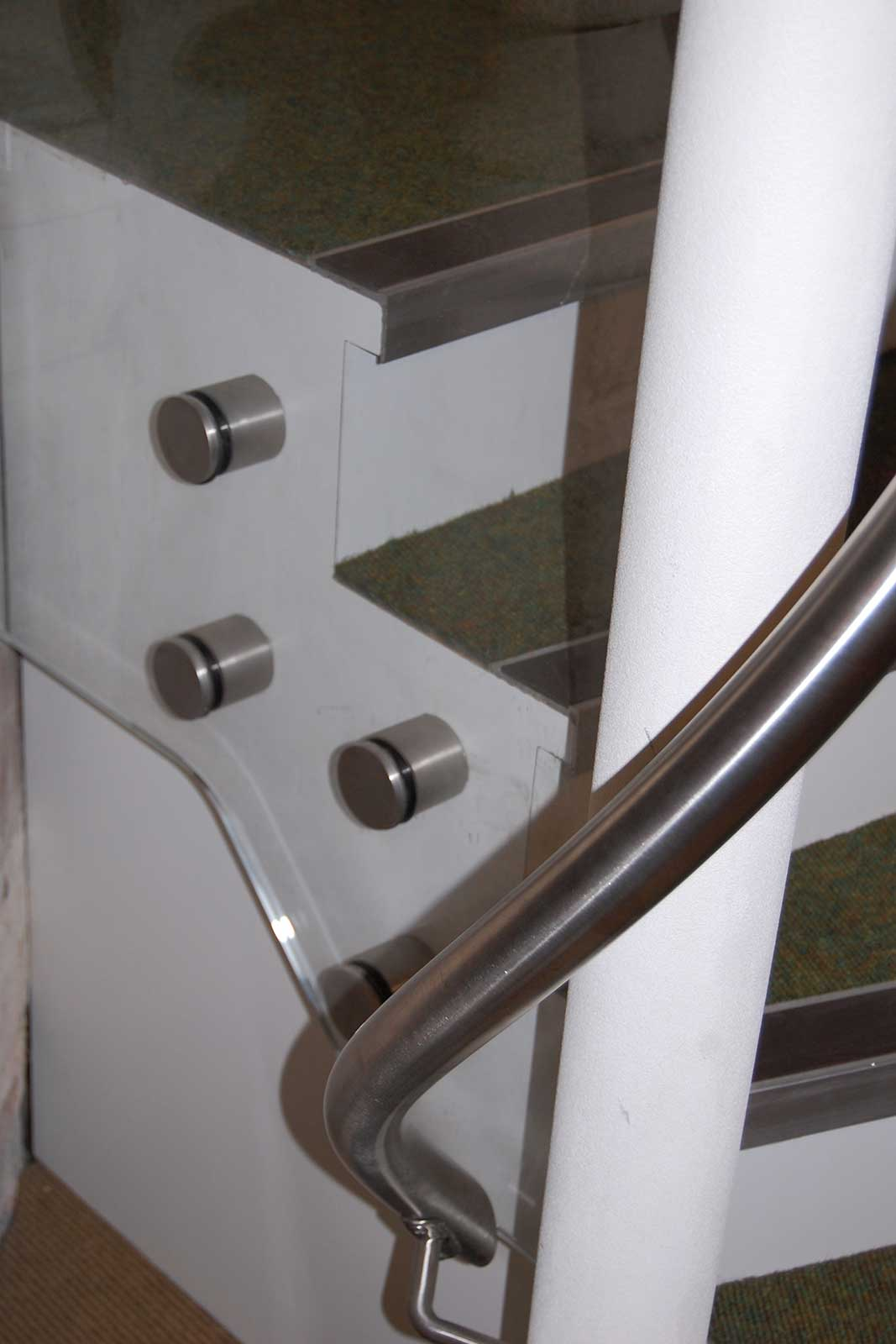 Glass Balustrade Hardware & Handrail, St. Andrew's Church