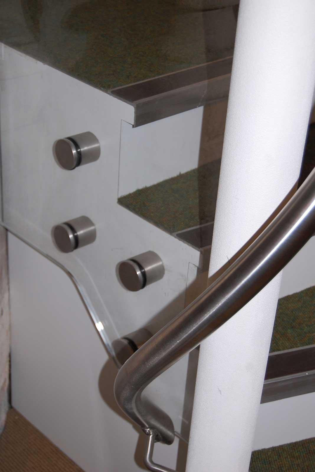 Glass Balustrade Hardware & Handrail, St. Andrew's Church
