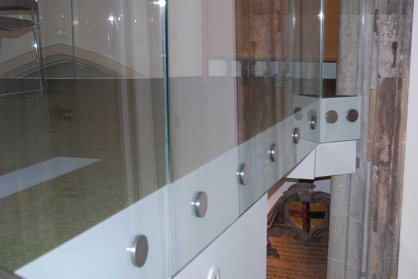 Bolted Glass Balsutrade St Andrews Church