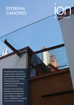 External Glass Canopies Brochure