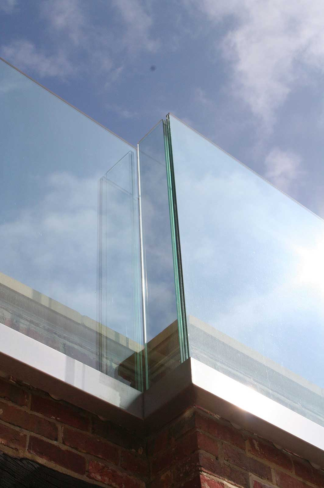 External Channel Set Glass Balustrade