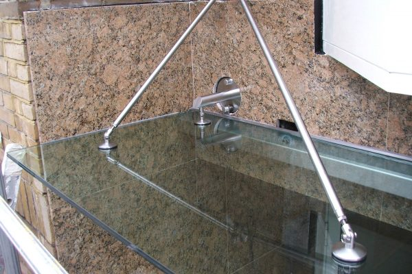 Toughened Glass Canopy with Stainless Steel Fixings