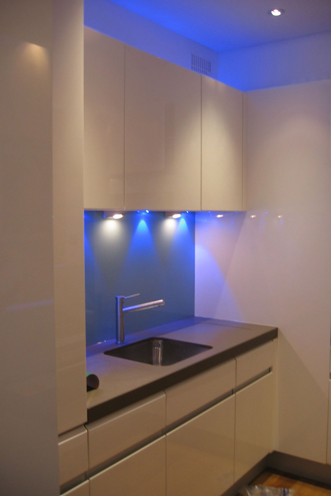 Blue Coloured Glass Wall Cladding