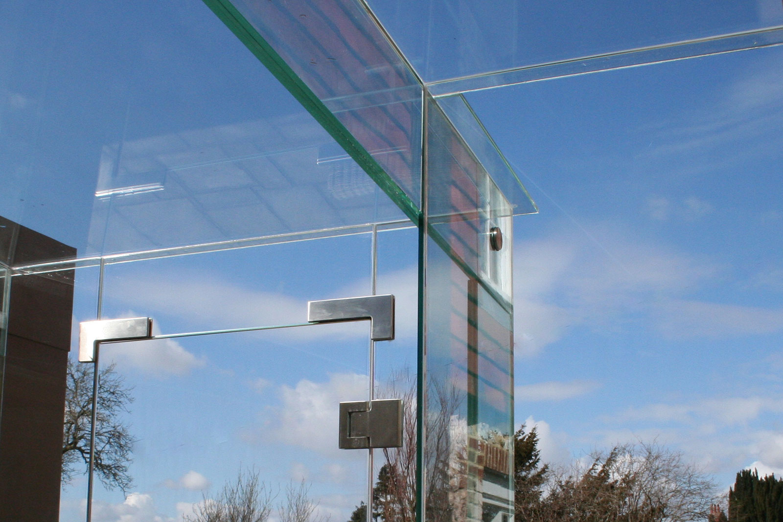 Bespoke Glass Beam for External Link Way