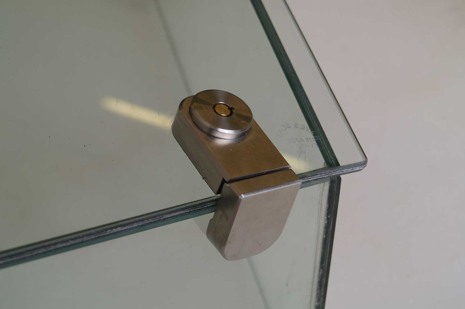 Bespoke Glass Display Cabinet Fixings