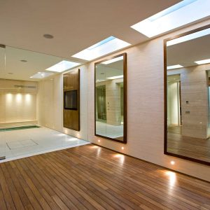 Bespoke Glass Mirrors and Glass Sauna Screen