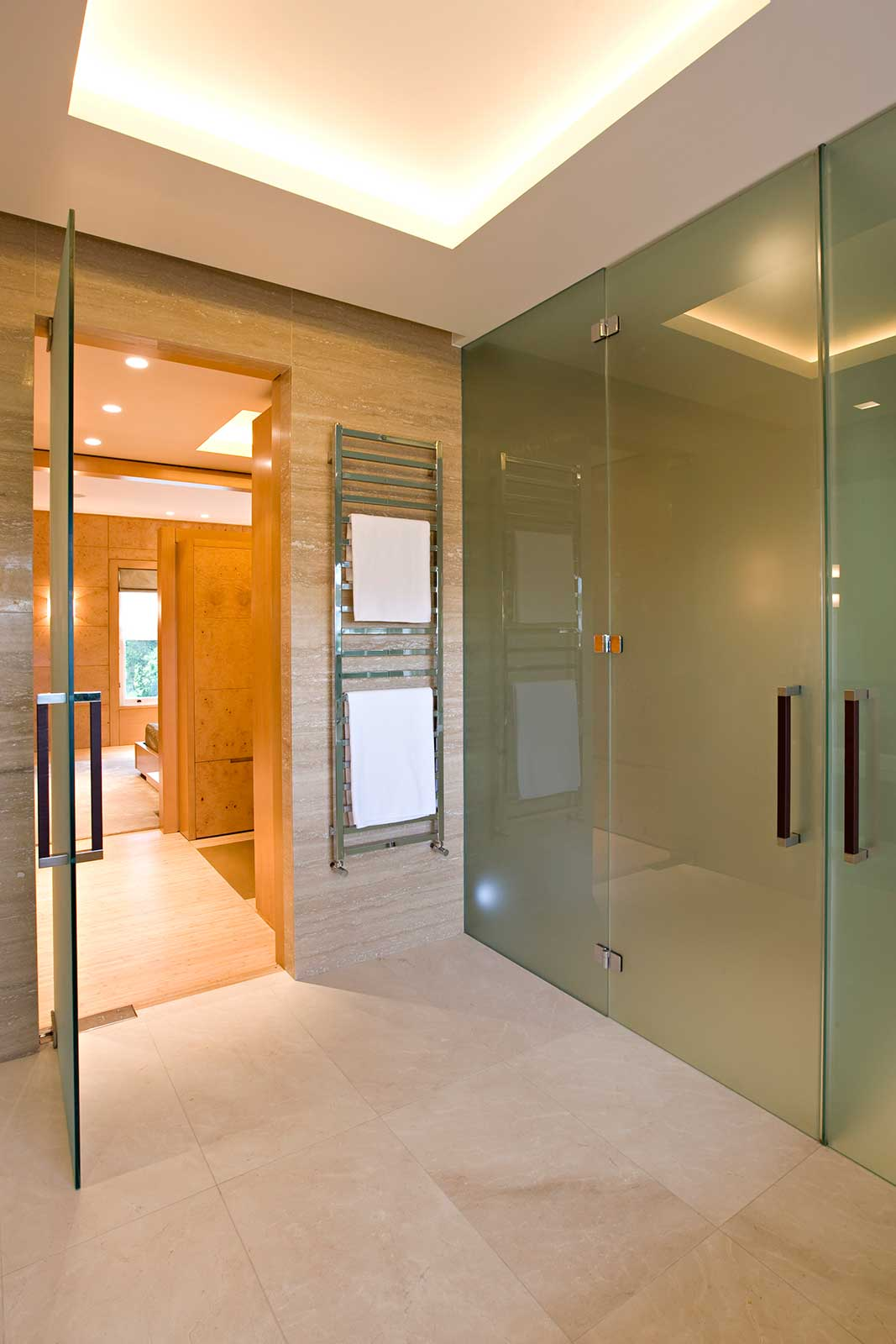 Frameless Double Glass Doors