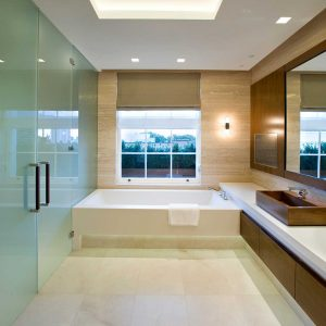 Frameless Glass Double Doors Opaque Glass