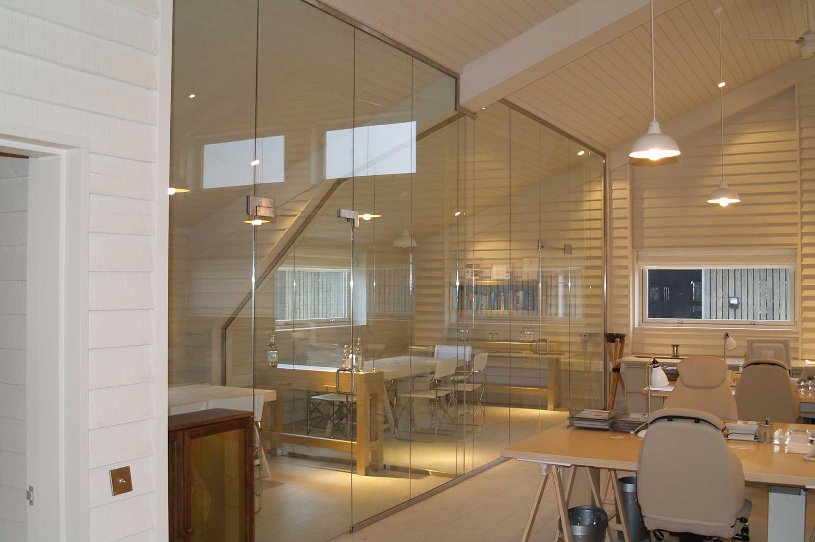 Bespoke Glass Office Partition, Daylesford Farm