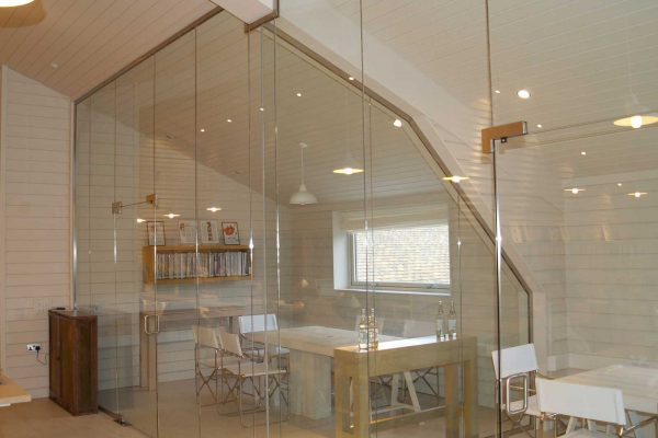 Glass Meeting Room Partitions, Daylesford Farm