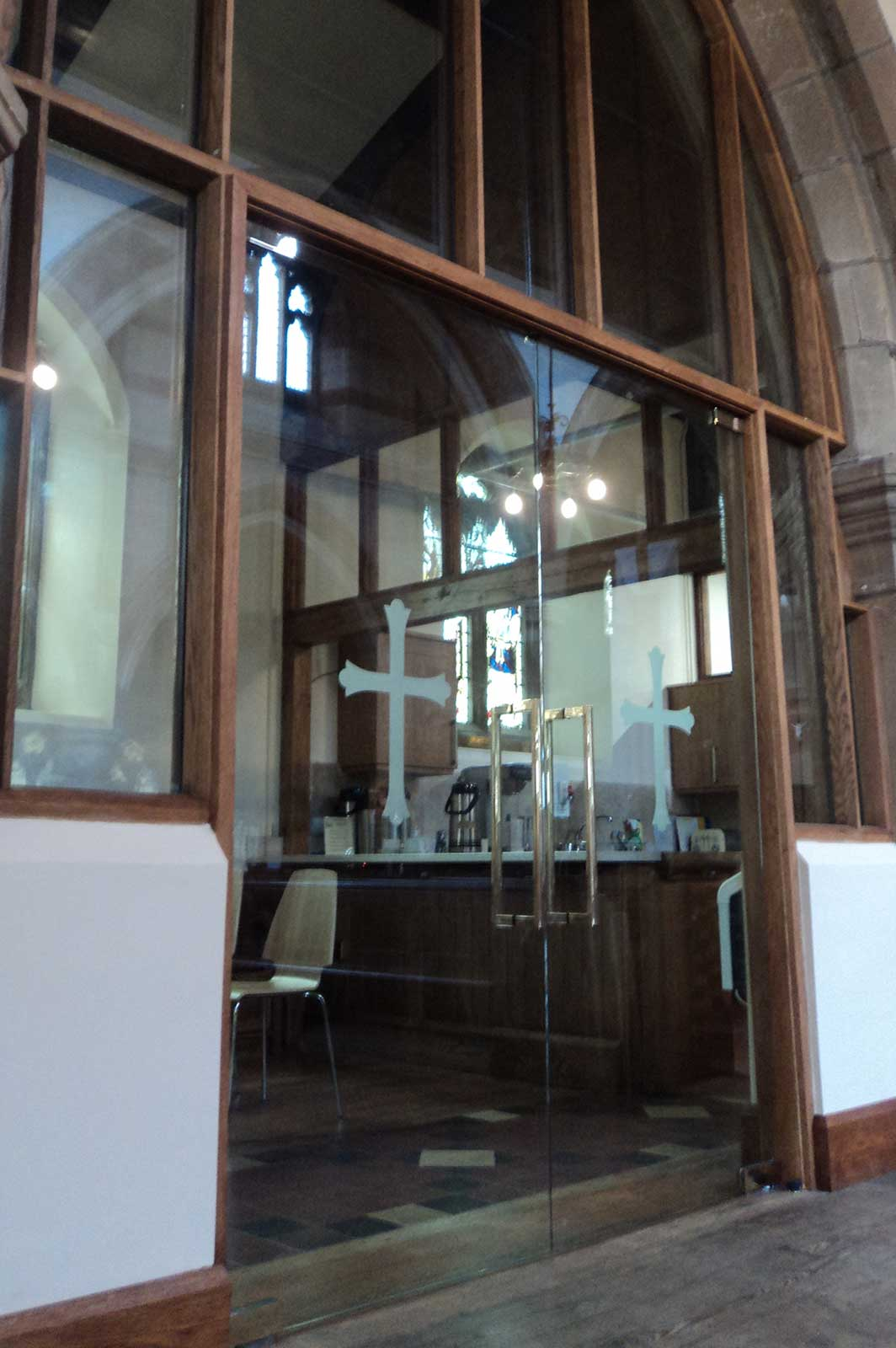 Bespoke Double Glass Doors, St. Andrew's Church