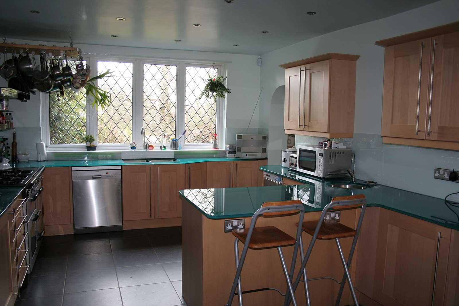 Coloured Glass Kitchen Worktops