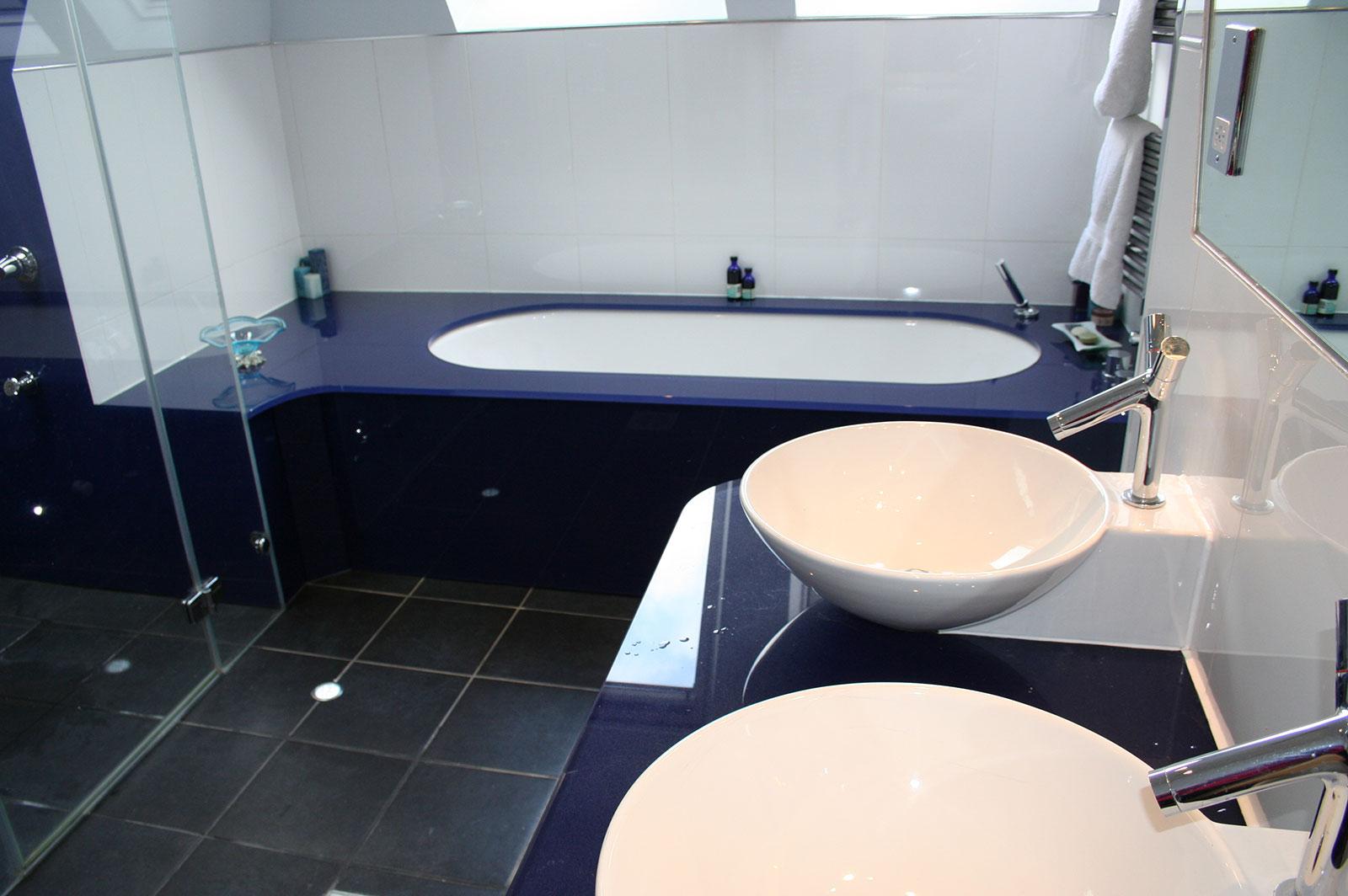 Bespoke Glass Bathroom Worktops
