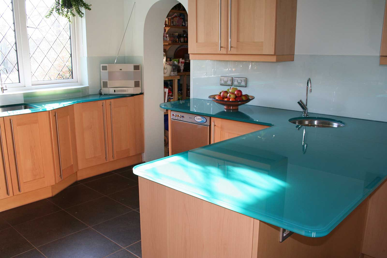 Coloured Glass Worktops Backpainted Toughened Glass