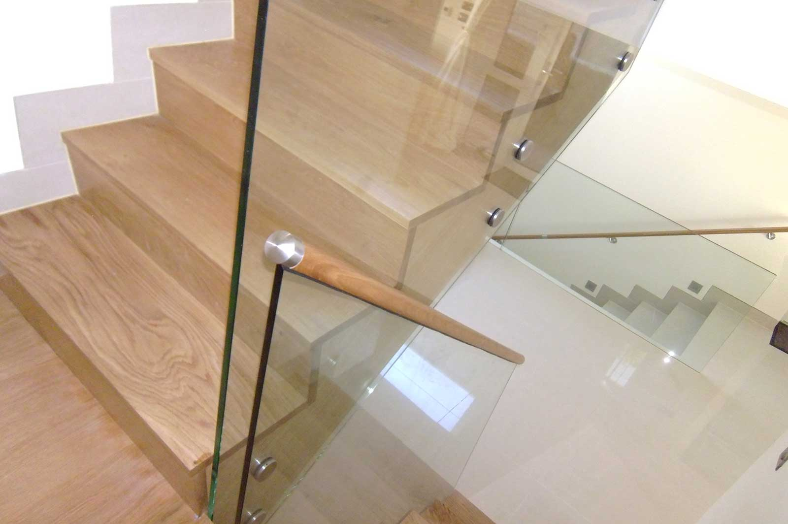 Frameless Glass Staircase Balustrade, Pevensey Bay