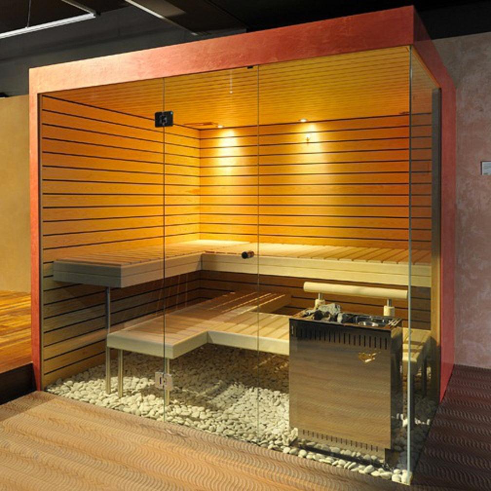 Frameless Glass Sauna for Oxford spa