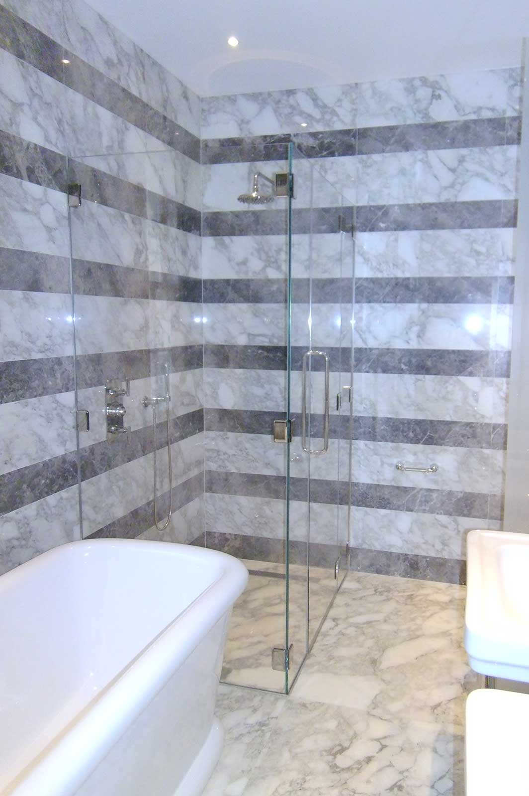 Large Frameless Glass Shower Enclosure Bespoke Sizes