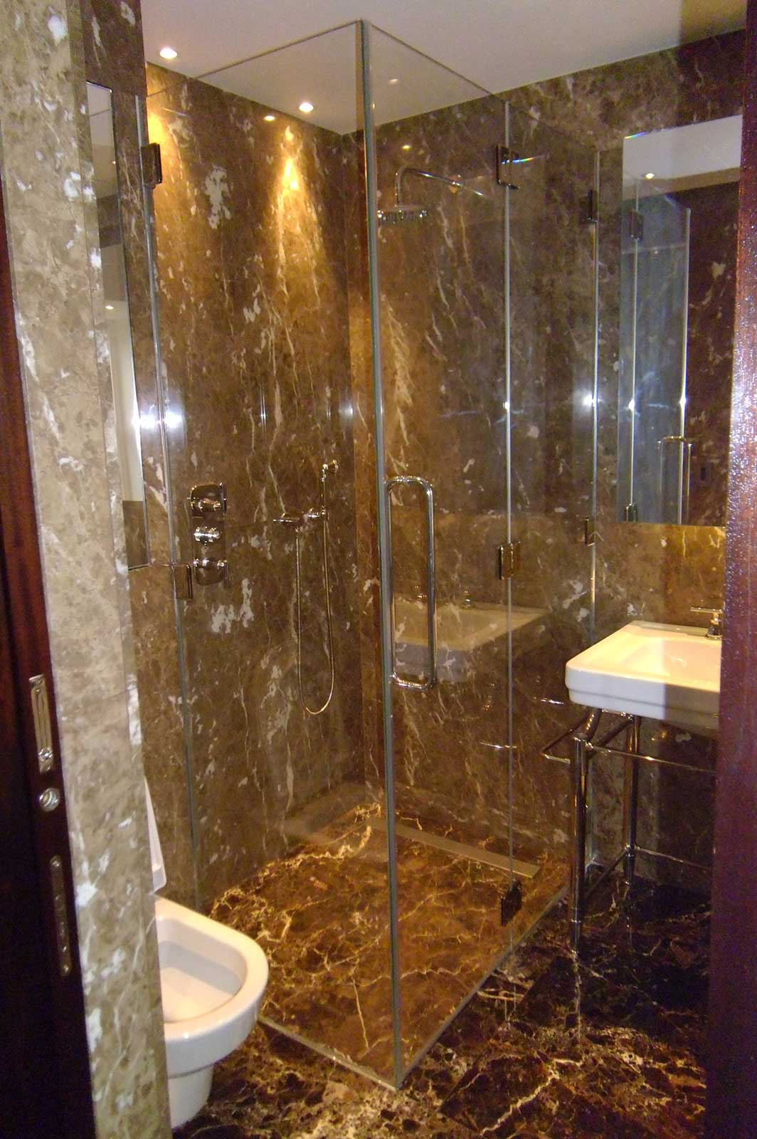 Bespoke Frameless Glass Shower Enclosure