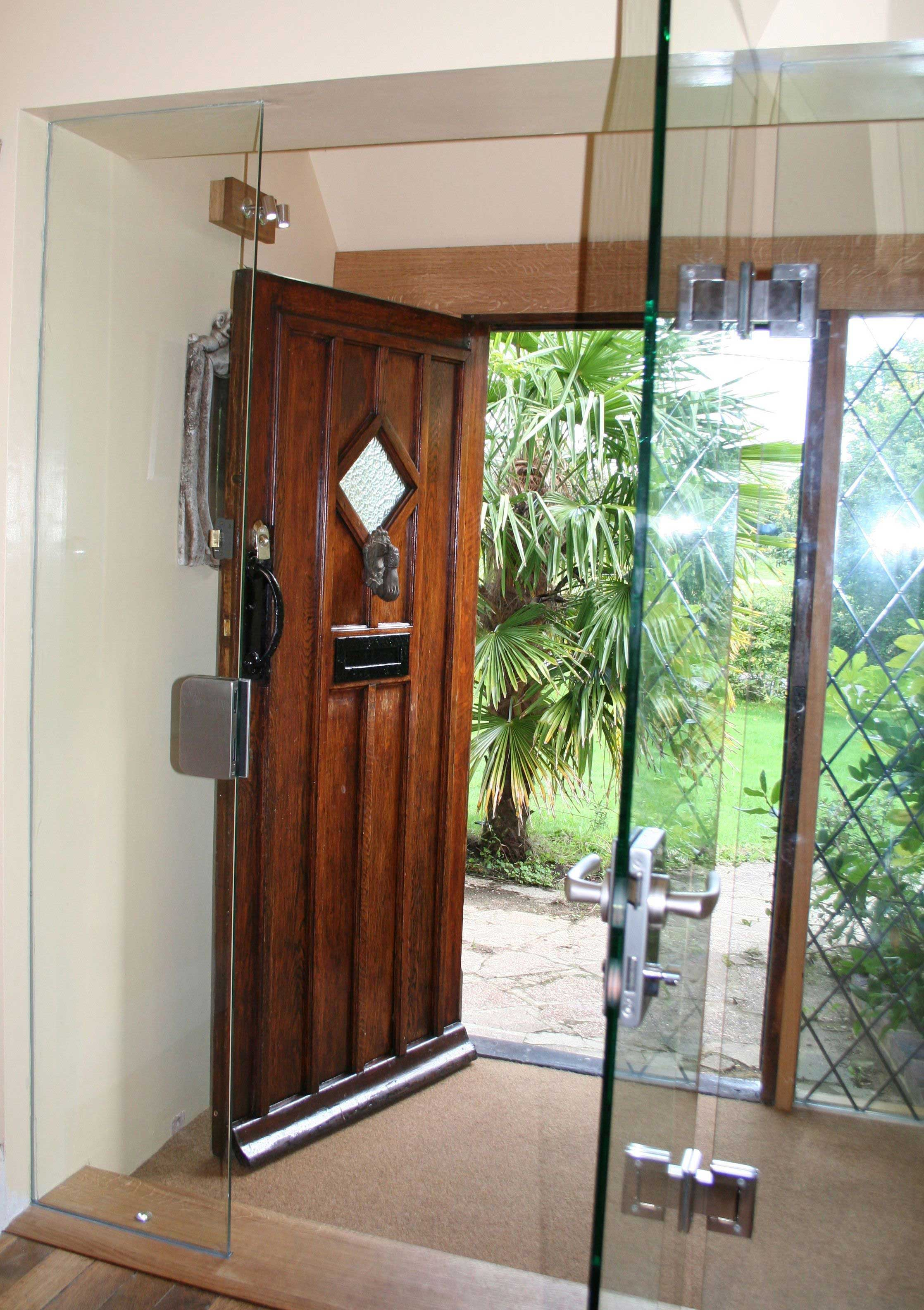 Secure Glass Door for Glass Lobby Area