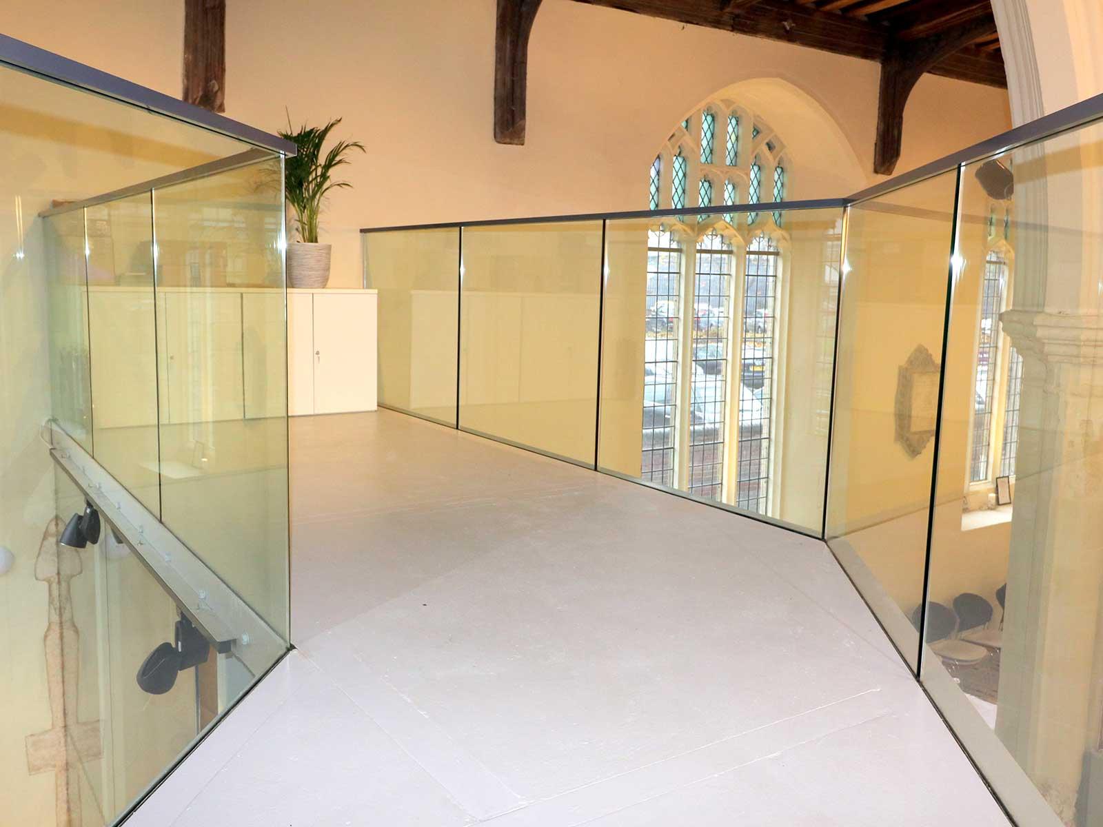 Glass Balustrades to Church Mezzanine Floor