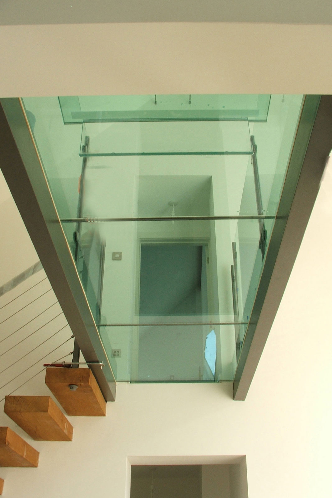 Bespoke Glass Flooring With Glass Balustrading
