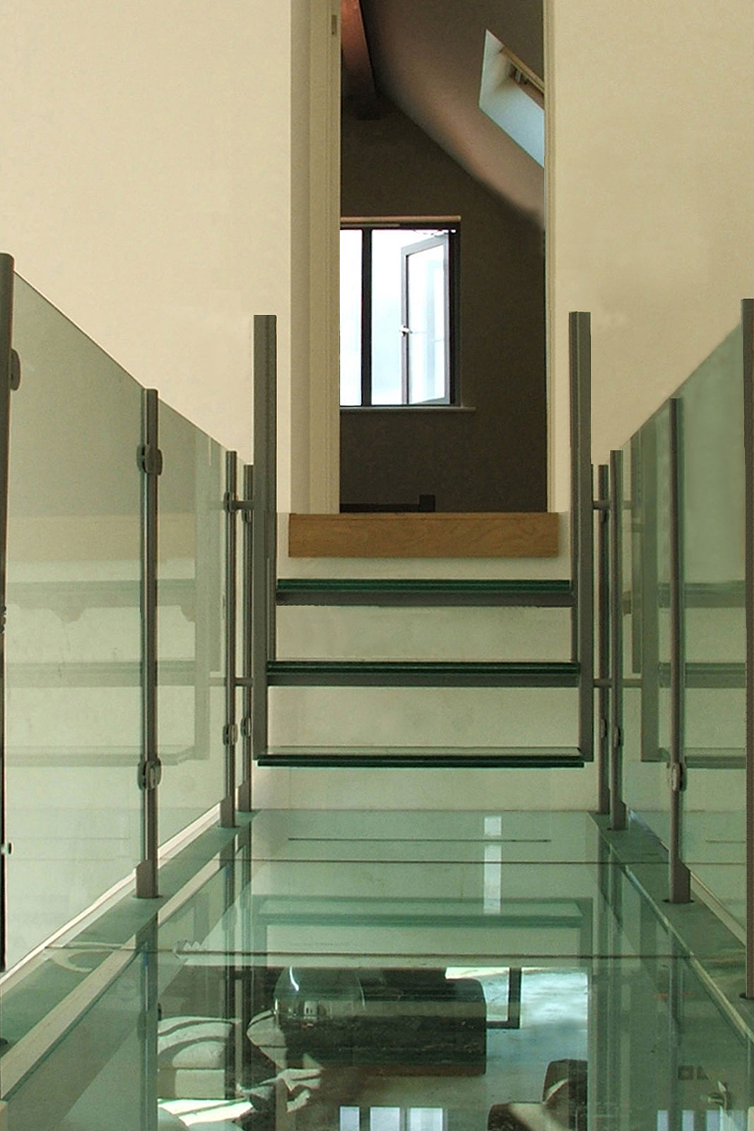 Structural Glass Bridge with Glass Flooring & Balustrades