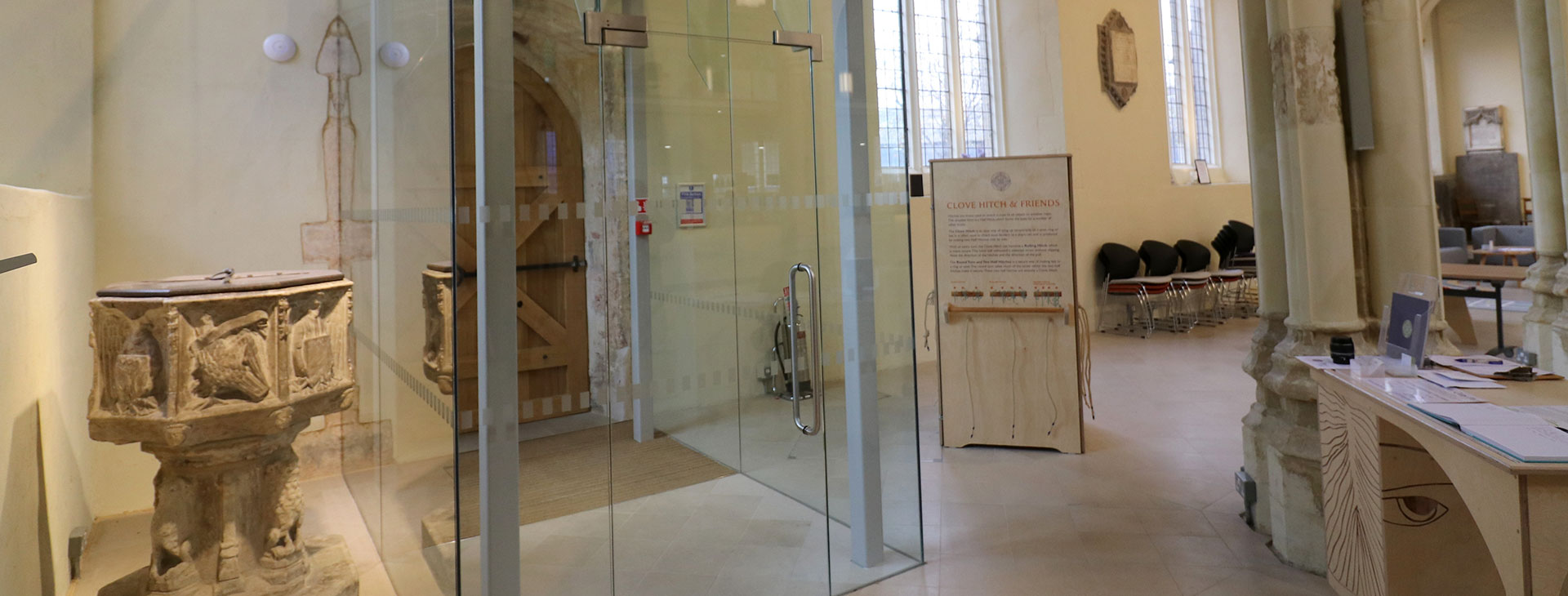 Frameless Glass Church Entrance Door and Screen At St Mary-on-the-Quay