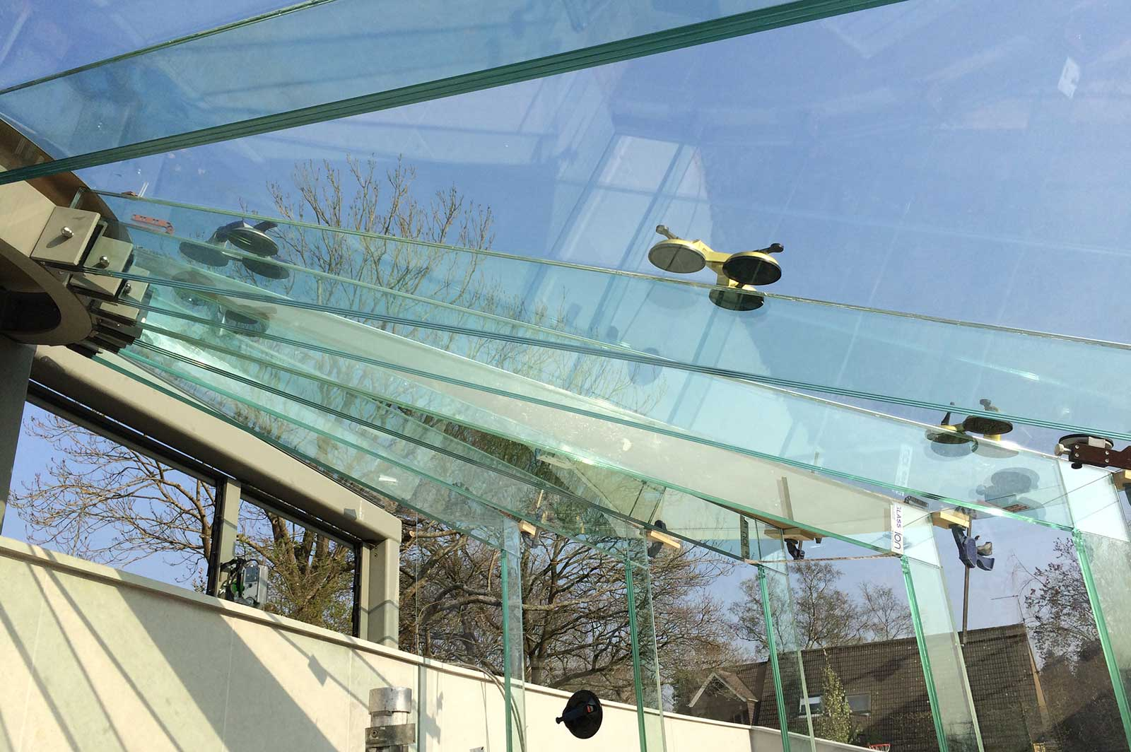 Installation of Structural Glass Roof Panels, Glass Greenhouse