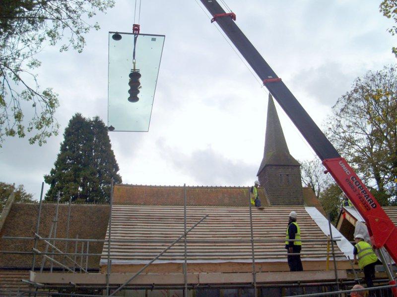 Large Glass Rooflight Installation, St. Thomas of Canterbury Church