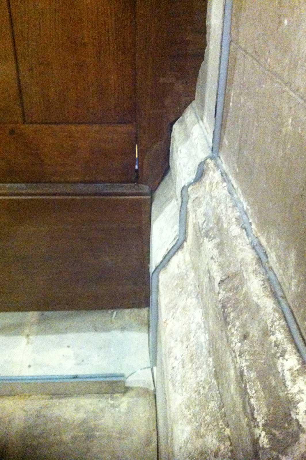 Bespoke Glass Cut Into Church Stonework