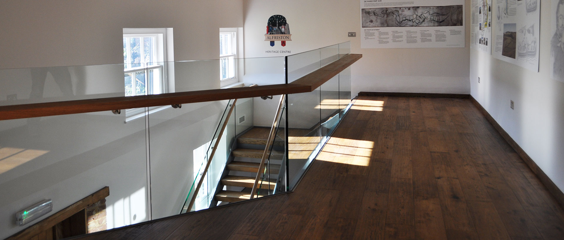 Frameless Glass Balustrading to Mezzanine Floor Education Section