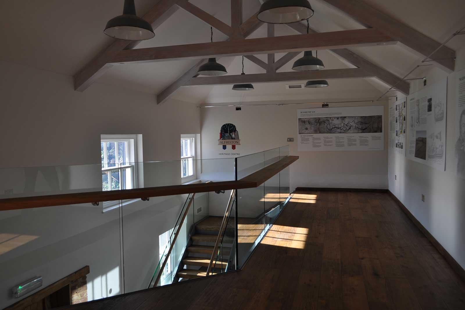 Frameless Glass Balustrades with Timber Handrail, Rathfinny Wine Estate