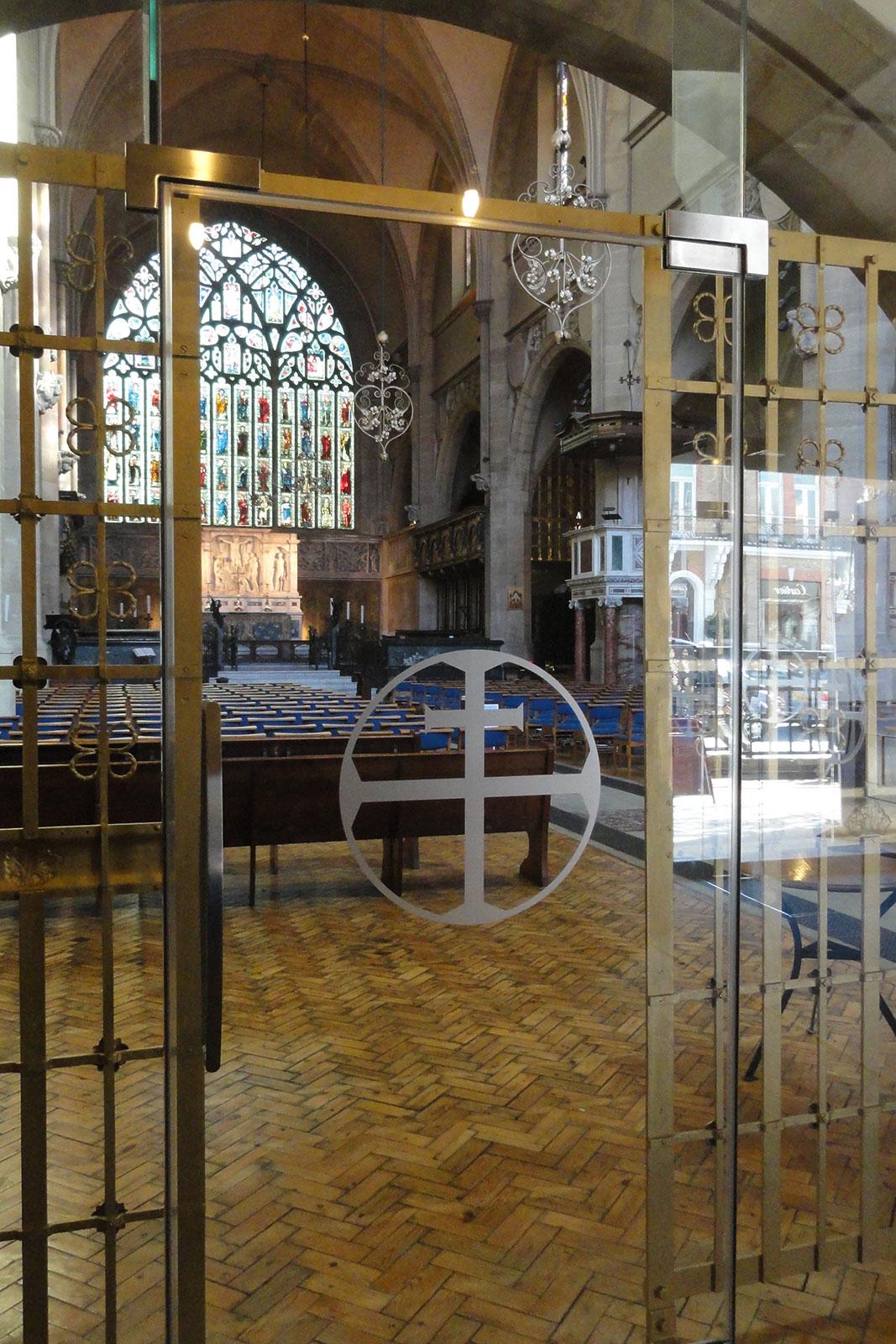 Internal Glazed Door to Church Meeting Room