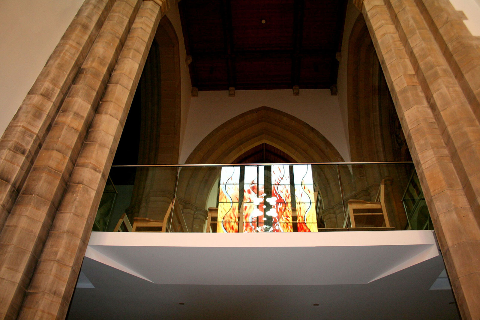 Balcony Glass Balustrade, Hurstpierpoint College Chapel