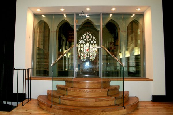 Glass Balustrade to Small Steps, Hurstpierpoint College
