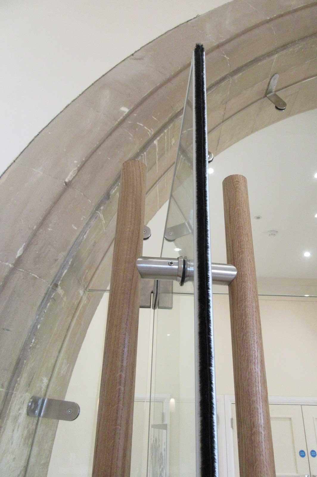 Bespoke Frameless Glass Doors for Heritage Interior