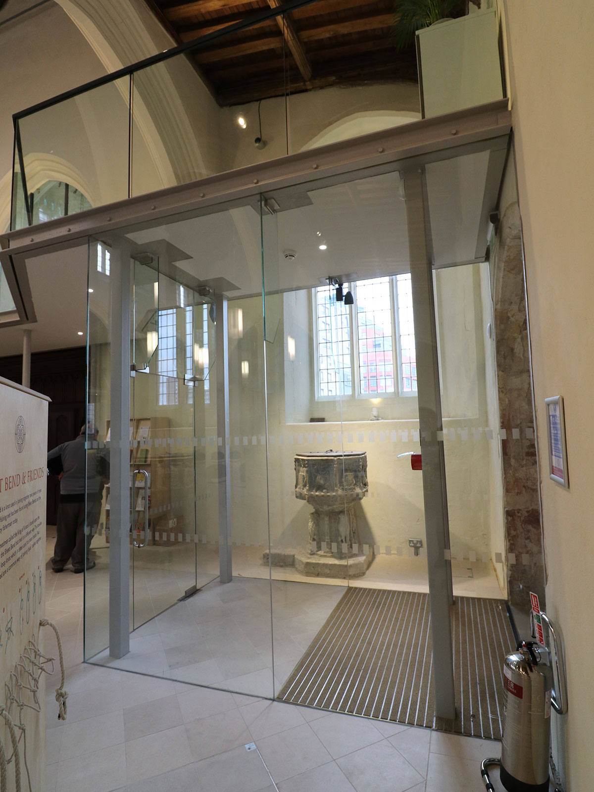 Structural Glass Entrance Doors & Lobby to St Mary's Church