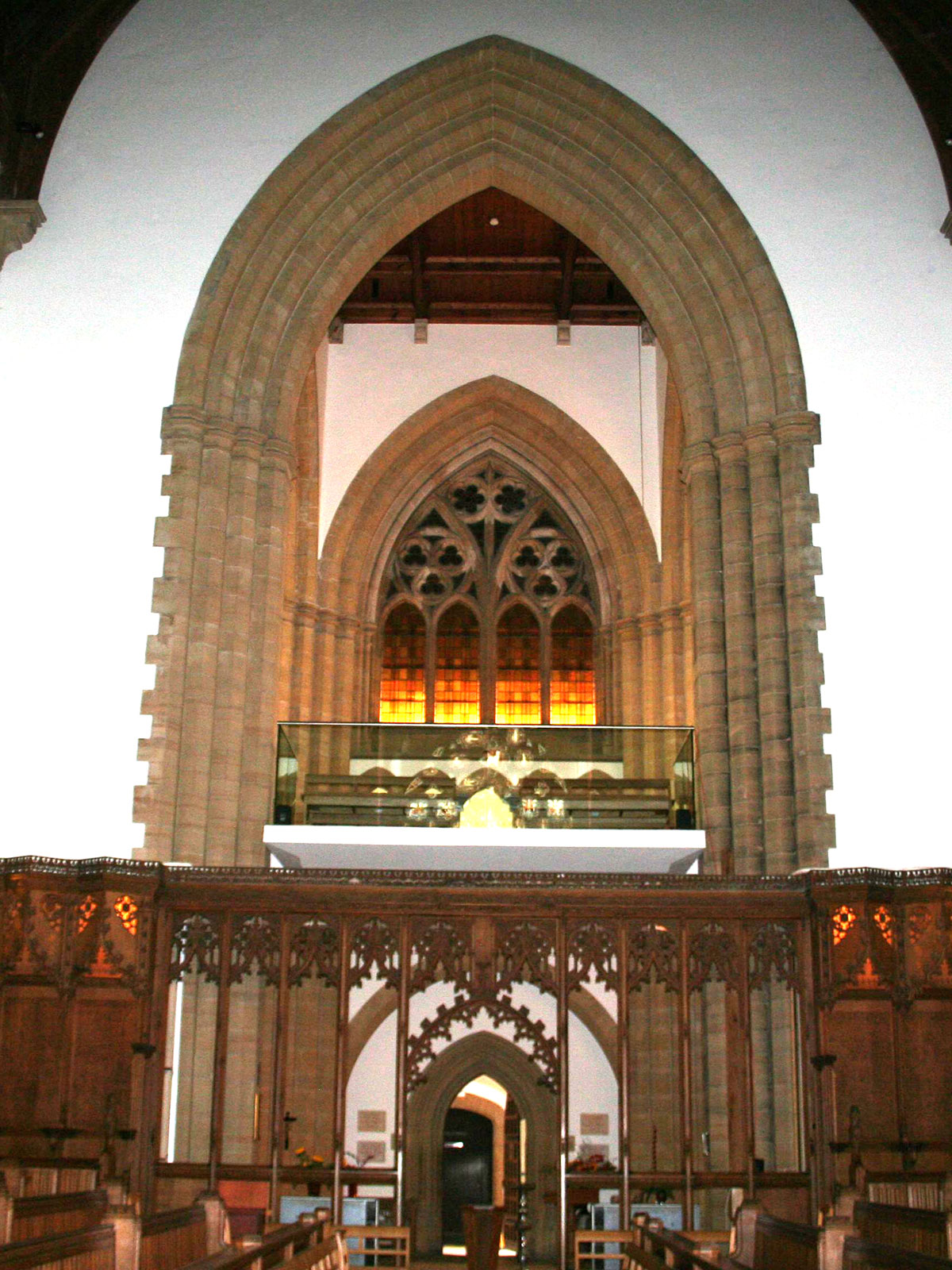 Bespoke Glass Balustrading to Suspended Gallery, Hurstpierpoint College Chapel