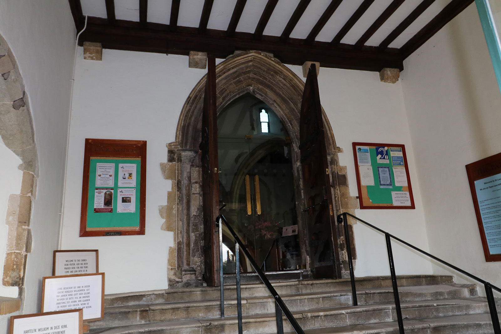 Bespoke Glass Doors made to fit Archway Stonework, St. Leonard's Church