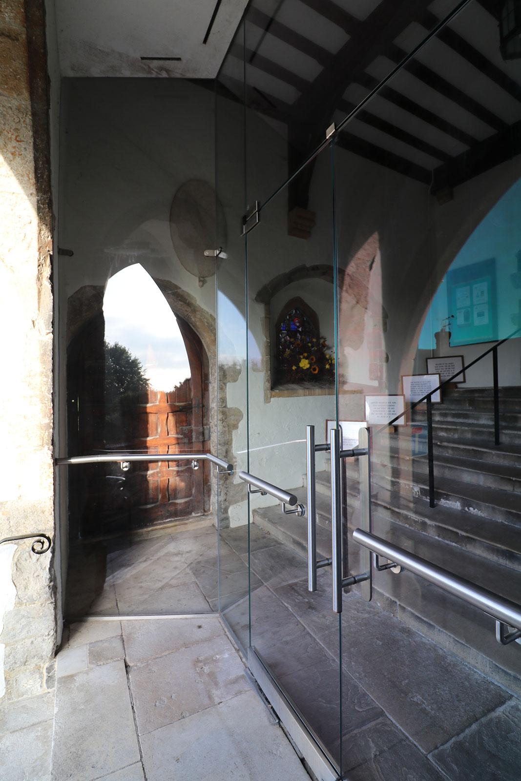 Frameless Glass Lobby to Church Heritage Building