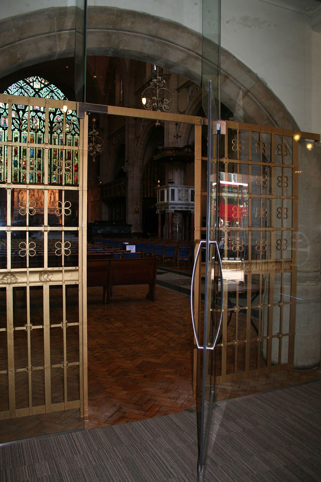 Bespoke Glass Internal Doors, Holy Trinity Church Sloane Square
