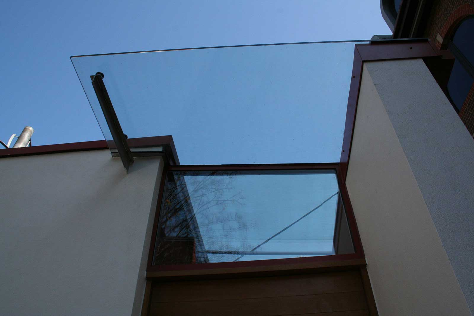 Exterior Glazed Canopy and Glass Rooflight